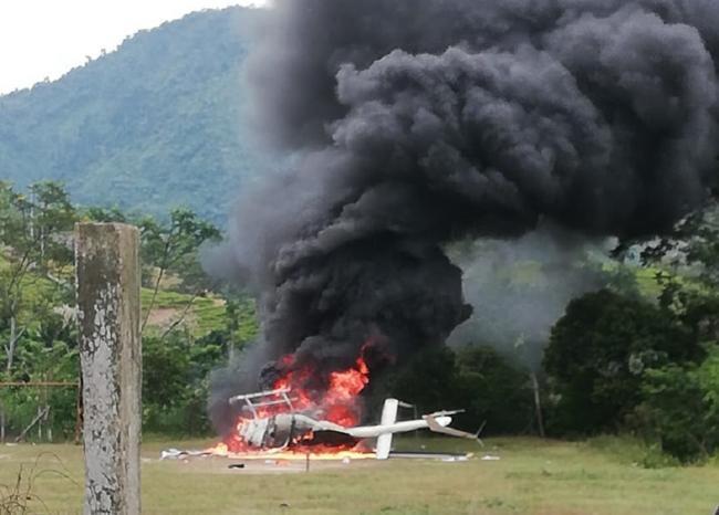$1.000 millones robaron de helicóptero obligado a aterrizar  | EL FRENTE
