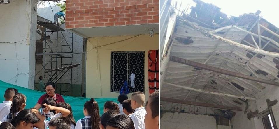 Polémica por obras en colegio durante la jornada escolar  | EL FRENTE