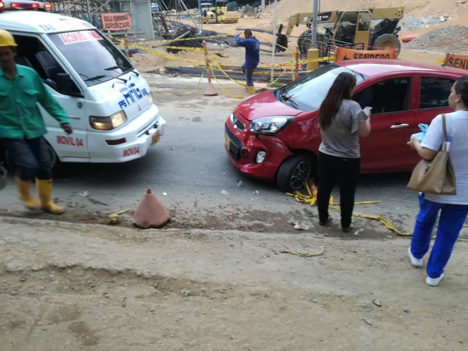 Conductor huyó tras ocasionar choque múltiple en Floridablanca   EL FRENTE