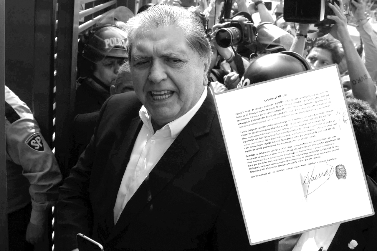 La carta que escribió Alan García antes de suicidarse | EL FRENTE