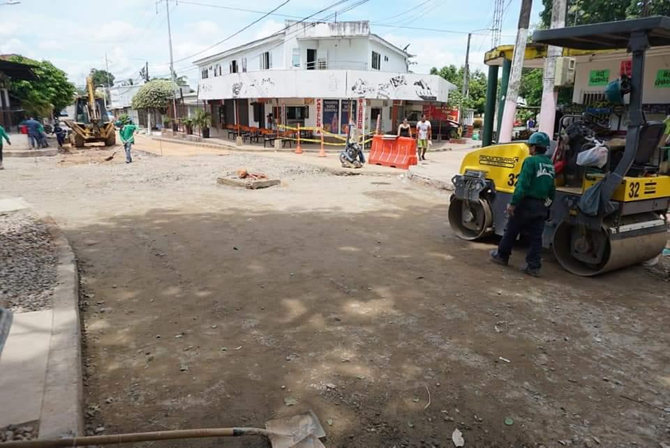 Obras de la Secretaría de Infraestructura. Mantenimiento vial en el barrio El Campestre  | EL FRENTE
