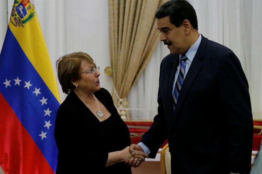 """A recomendaciones de Bachelet, Maduro dice que las asumirá con """"seriedad""""     EL FRENTE"""