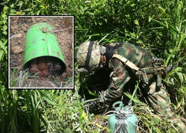 Tres cilindros bomba fueron detonados de forma controlada por el Ejército Nacional en El Catatumbo   Nacional   Justicia   EL FRENTE