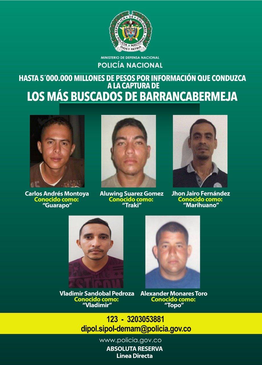 Los más buscados de Barrancabermeja tienen los días contados | EL FRENTE