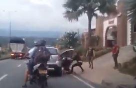 Mujeres agredieron a una pareja a las afueras de un motel en Girón | EL FRENTE