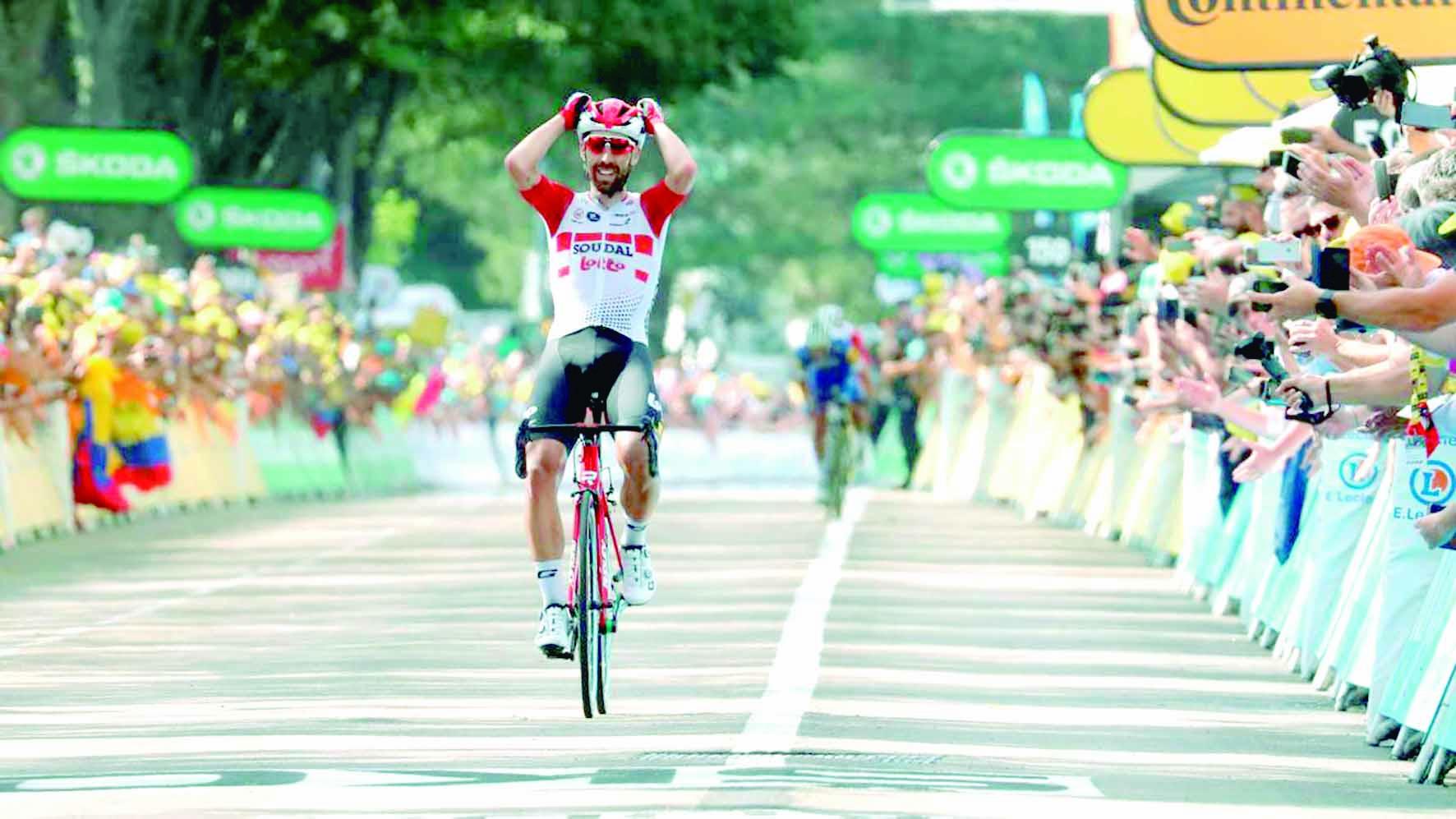 Thomas De Gendt gana en Saint-Etienne | EL FRENTE