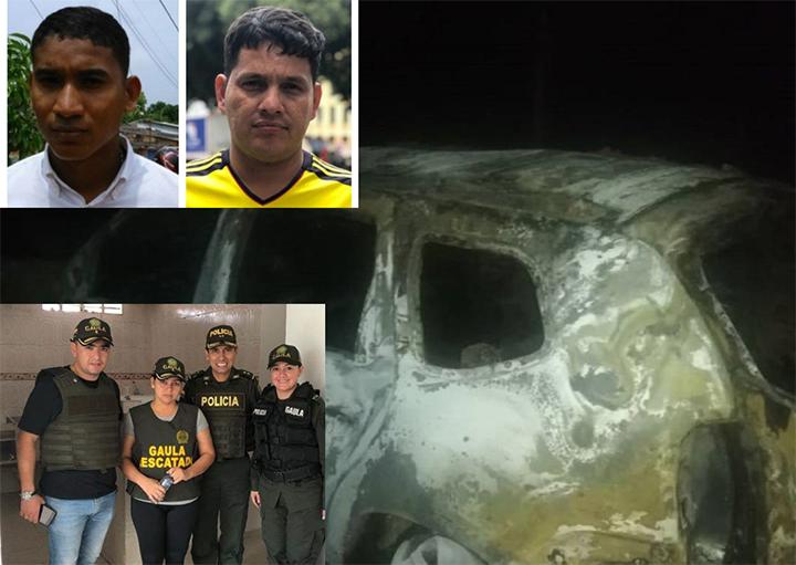 Vehículos de UNP quemados habrían sido utilizados en secuestro  | EL FRENTE