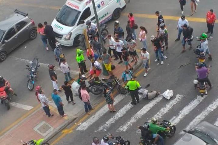Hombre murió tras ser arrollado por motociclista | EL FRENTE