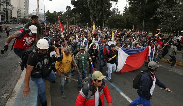 Ecuador acepta ayuda de la ONU para apaciguar las protestas  | EL FRENTE