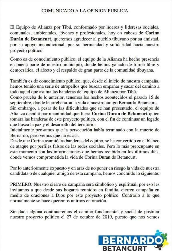 Candidatos a la alcaldía de Norte de Santander son amenazados | Nacional | Justicia | EL FRENTE