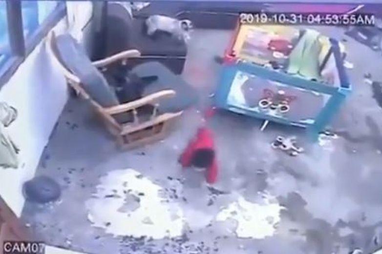 Astucia gatuna salvó a bebe de caer por las escaleras   EL FRENTE