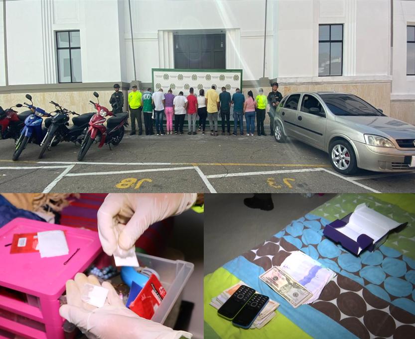 10 personas capturadas por venta de estupefacientes en Floridablanca  | EL FRENTE