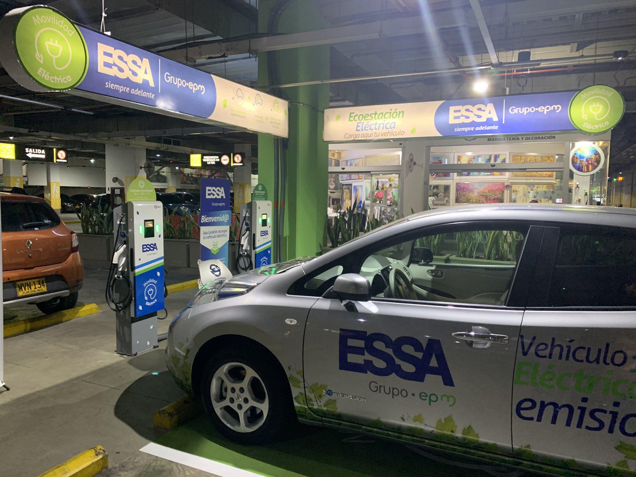 Inauguran segunda estación de carga para vehículos eléctricos en Bucaramanga  | EL FRENTE