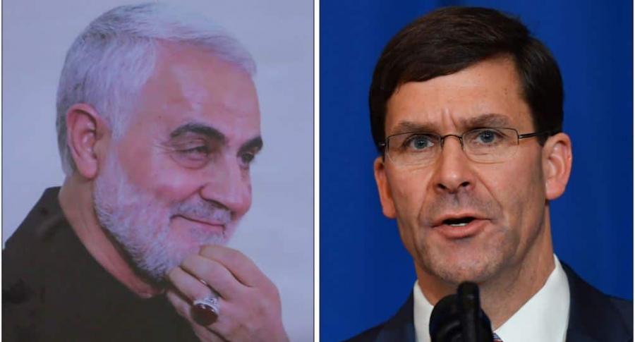 Pentágono asegura no tener pruebas sobre intensión de ataque de Soleimani   EL FRENTE