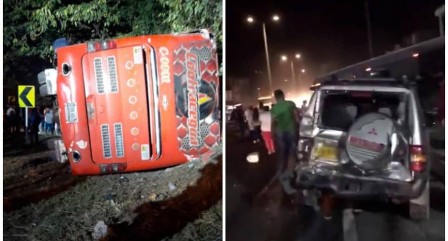 28 heridos dejó bus que se quedó sin frenos en Cundinamarca | Nacional | Justicia | EL FRENTE