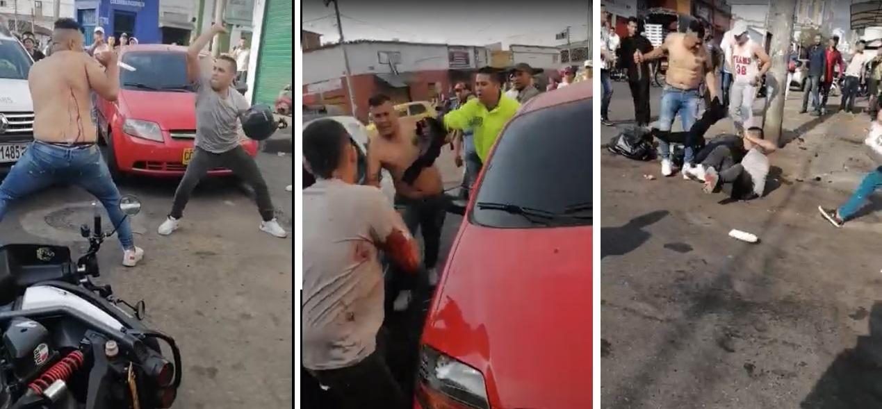 Violenta riña a cuchillo en Bucaramanga: dos heridos   EL FRENTE