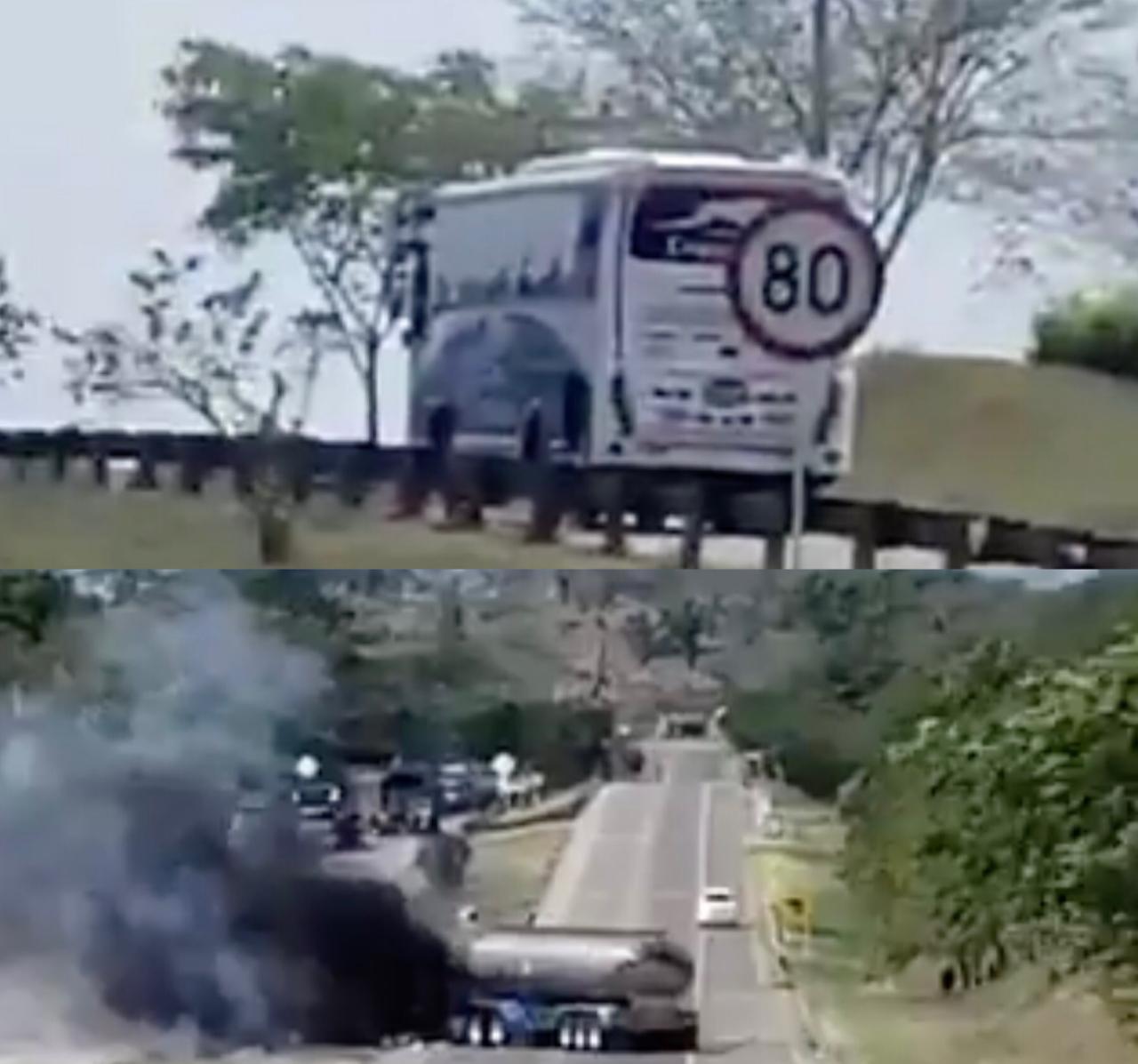 Bus de Copetran fue baleado y camión quemado por el Eln en Pelaya, Cesar | EL FRENTE