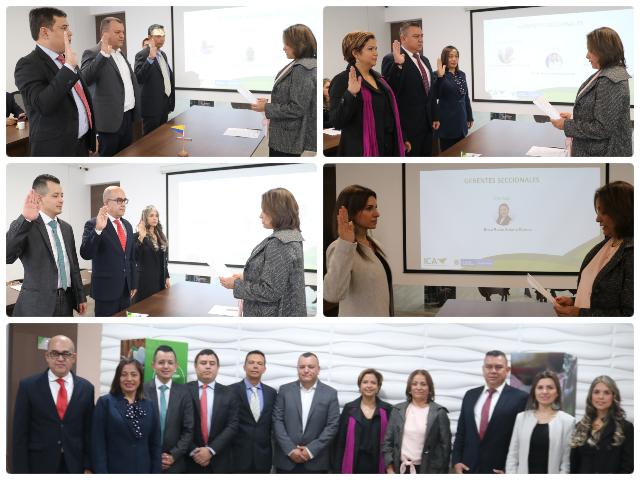 El ICA posesiona diez nuevos gerentes seccionales incluido el de Santander | EL FRENTE
