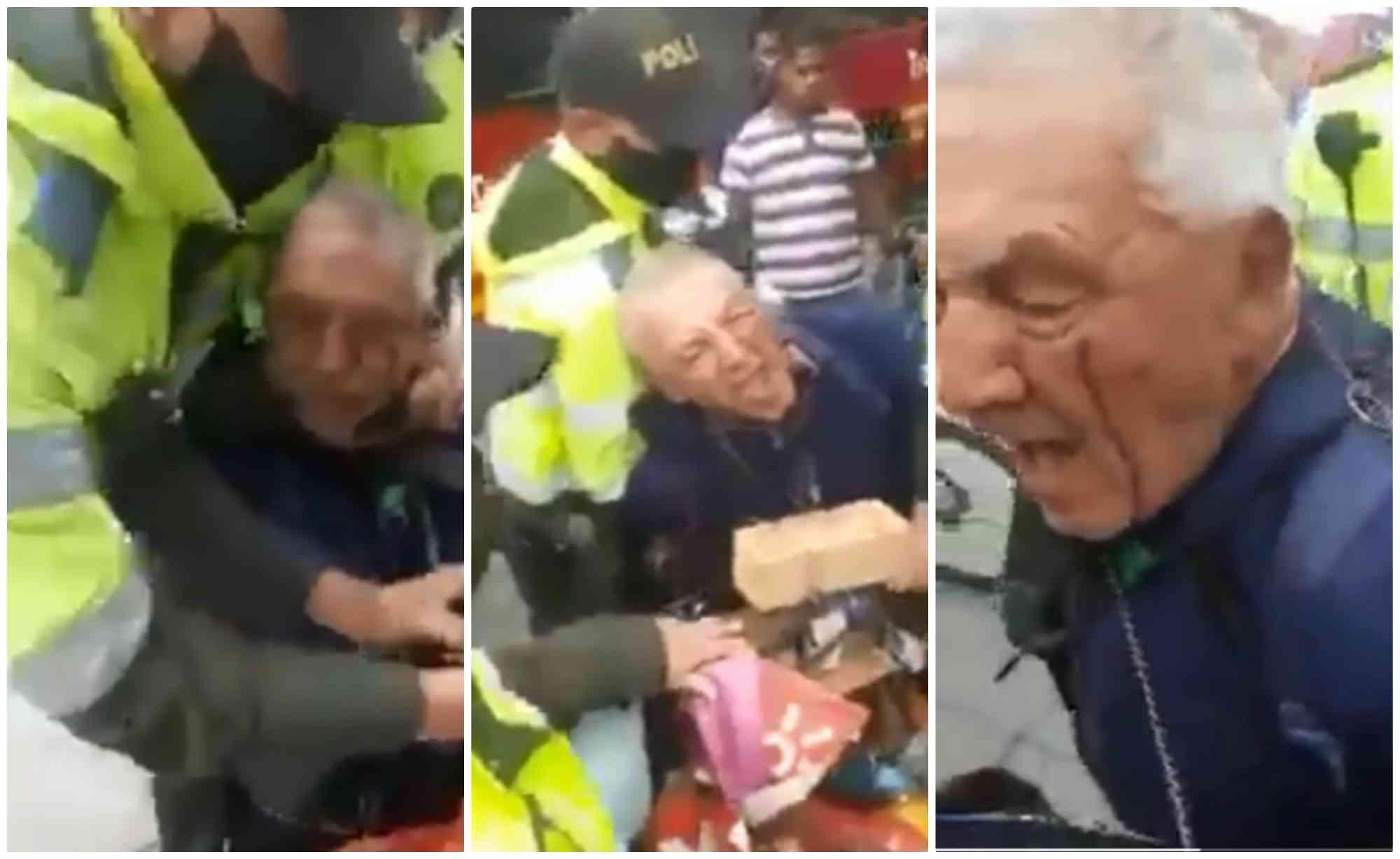Rechazo por paliza a abuelo que vendía frutas en Bogotá    EL FRENTE
