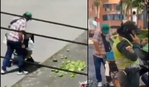 Vendedor tira la fruta para no permitir su decomiso  | EL FRENTE