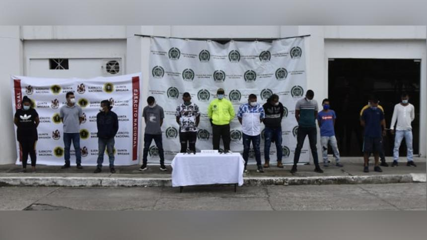 Tras las rejas 13 integrantes del clan del Golfo en el sur de Bolívar | EL FRENTE