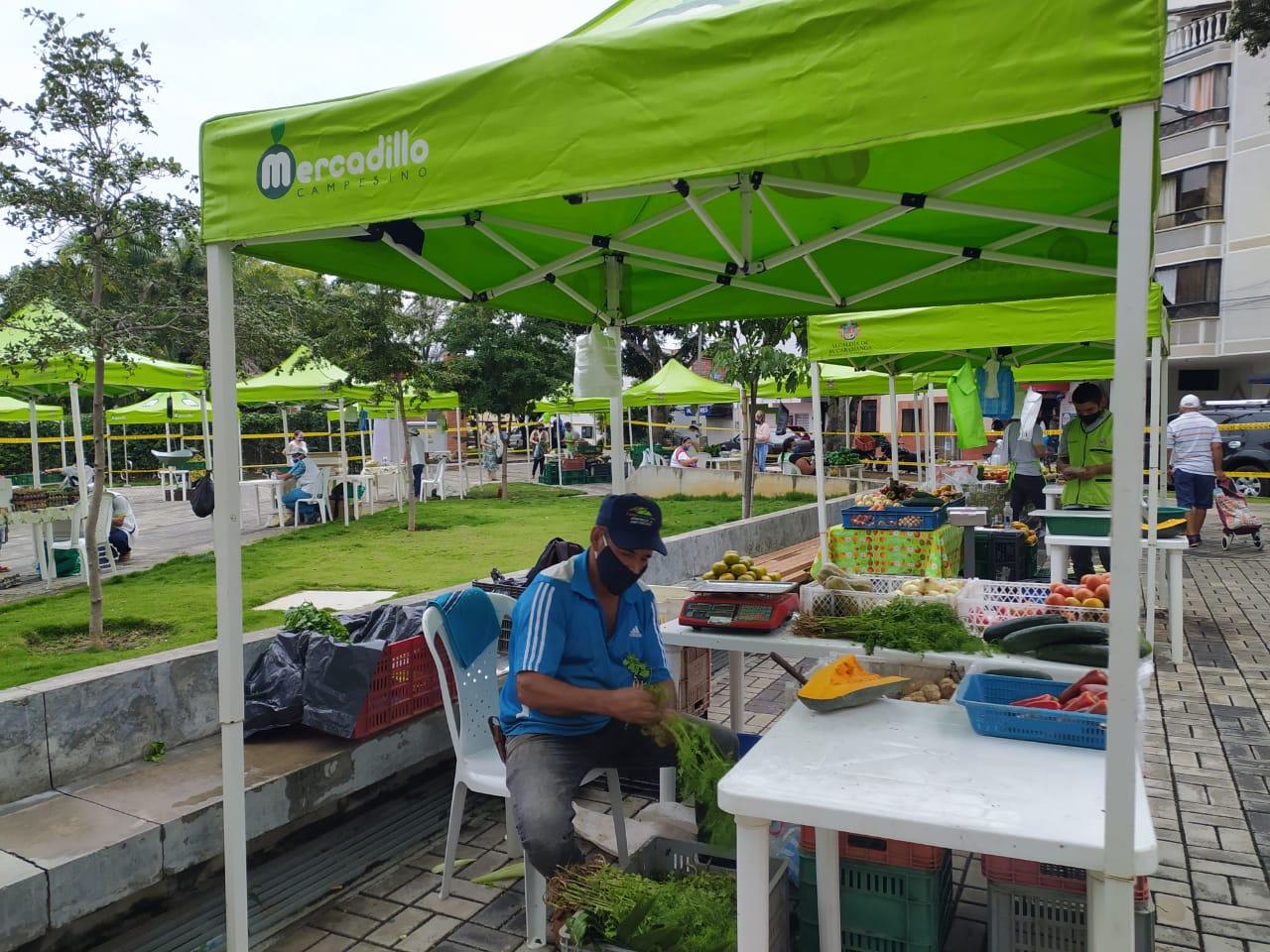 Volvieron los mercadillos con protocolos de bioseguridad | EL FRENTE