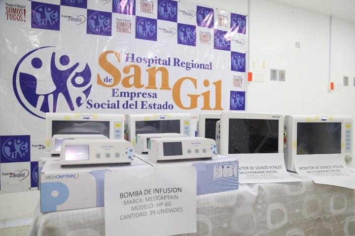 Dotación para el Hospital Regional de San Gil. Equipos biomédicos para 25 camas UCI intermedias | EL FRENTE