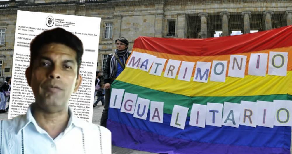 Juez se negó por tercera vez a casar pareja del mismo sexo | Nacionales | Colombia | EL FRENTE