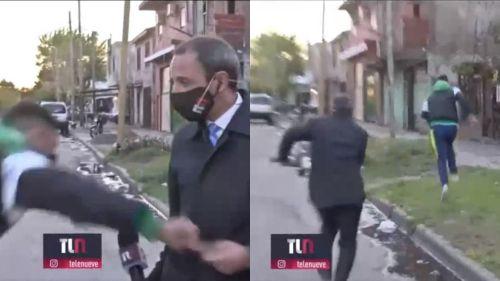 VIDEO. Robaron a un periodista en transmisión en vivo | Mundo | EL FRENTE