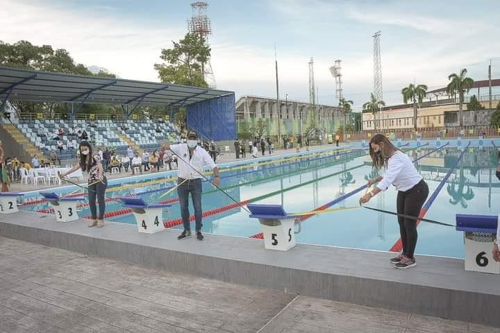 Proyección de Barrancabermeja como eje deportivo. Inaugurada la piscina olímpica del Inderba | EL FRENTE