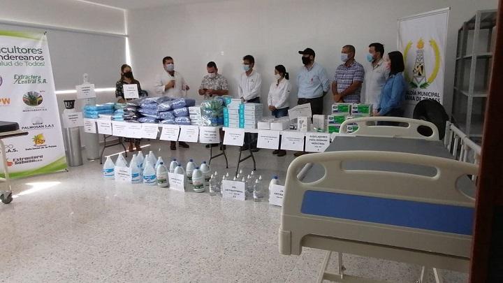 Presencia de Fedepalma y el sector palmero en Santander. Llegan donaciones para cuatro hospitales | EL FRENTE