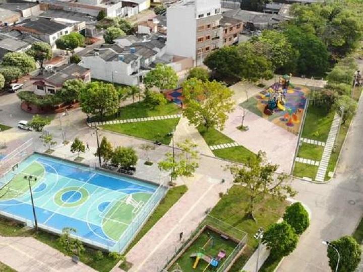 Recreación para 120 familias barranqueñas. Abierto parque biosaludable en el barrio Ciudad Bolívar | Municipios | Santander | EL FRENTE