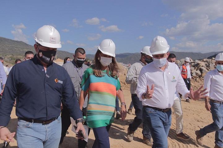 Rápida visita de la Vicepresidente a la zona. Trabajos en la Variante de San Gil avanzan en un 8% | Región | Santander | EL FRENTE