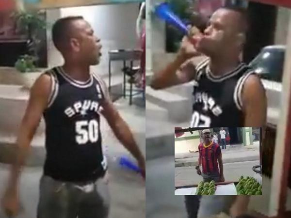 VIDEO. Enhuesado: el viral vendedor de yuca que le dice 'idioto' a sus clientes   EL FRENTE