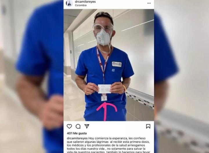 Con engaños un cirujano plástico se coló para recibir la vacuna contra la Covid-19 en Santander   EL FRENTE