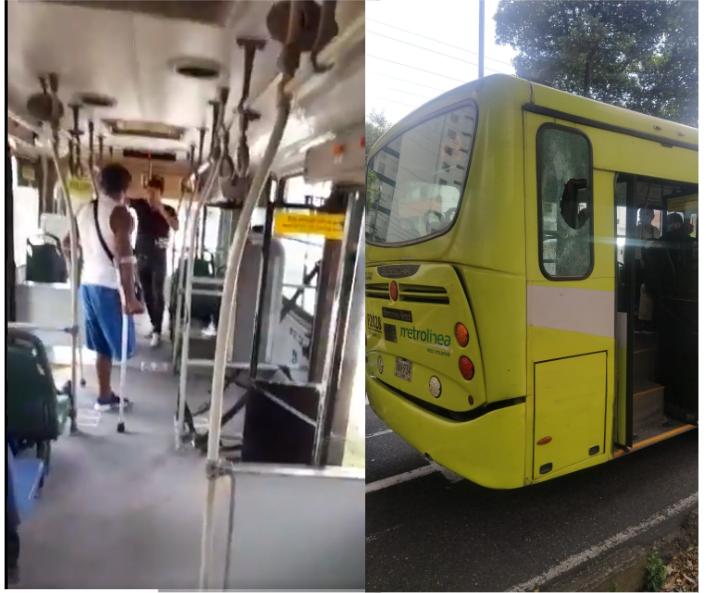 VIDEO. Venezolano golpeó un pasajero y rompió una ventana de Metrolínea  | Bucaramanga | Metro | EL FRENTE