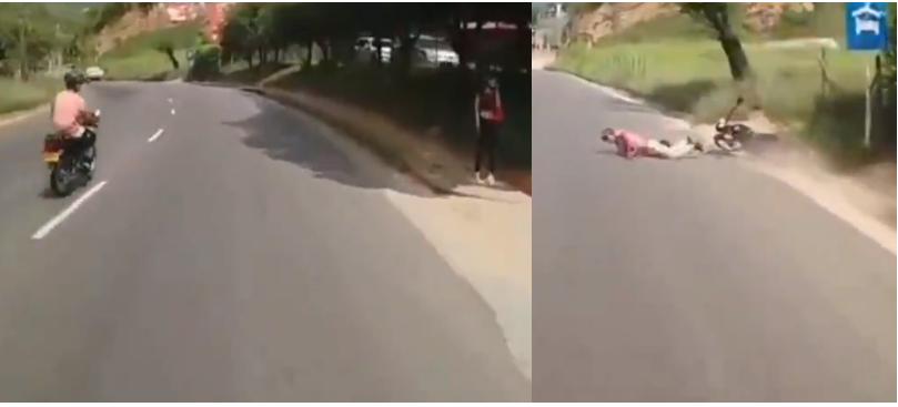VIDEO. Motociclista se pegó tremendo 'totazo' por imprudente    EL FRENTE