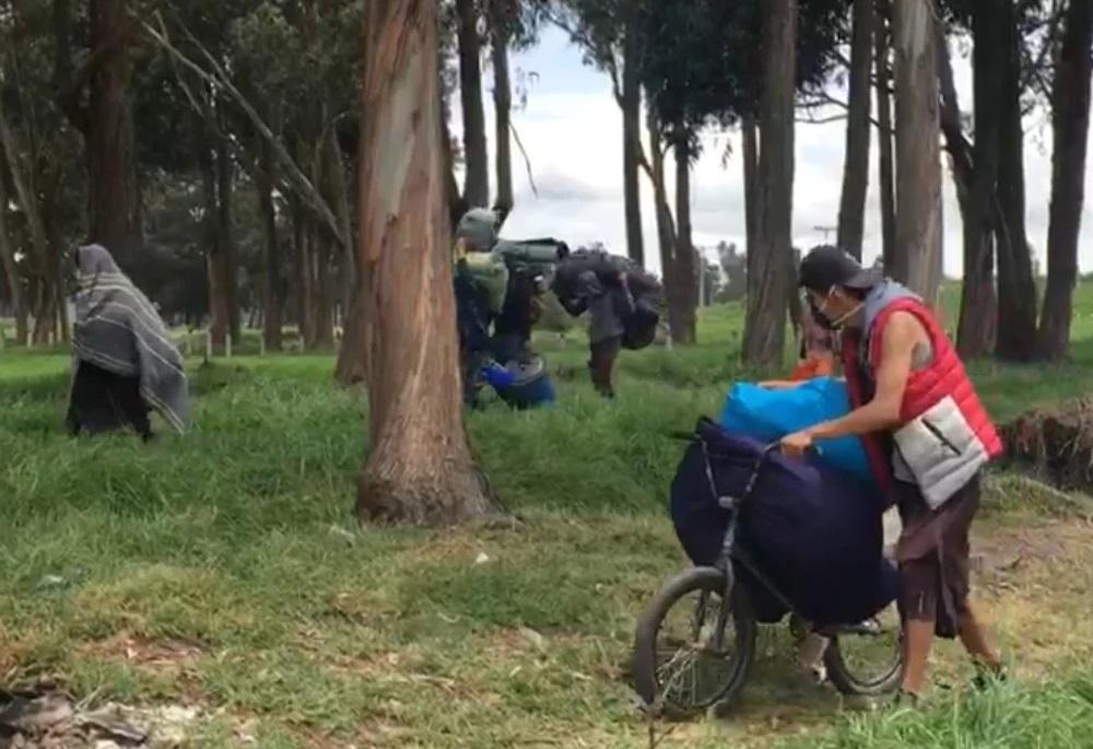 Primera Línea desalojada de un parque dice no tener dónde vivir | EL FRENTE