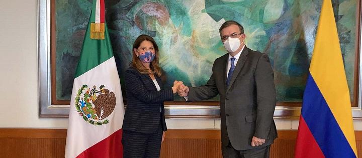 Junta entre cancilleres de México y Colombia. Sellado compromiso para reforzar el dialogo político   EL FRENTE