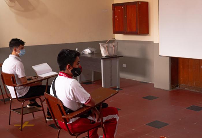 Llegó el día de las clases presenciales en Bucaramanga | Metro | EL FRENTE
