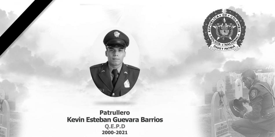 Falleció el patrullero Kevin Guevara, herido hace una semana en Caquetá | EL FRENTE