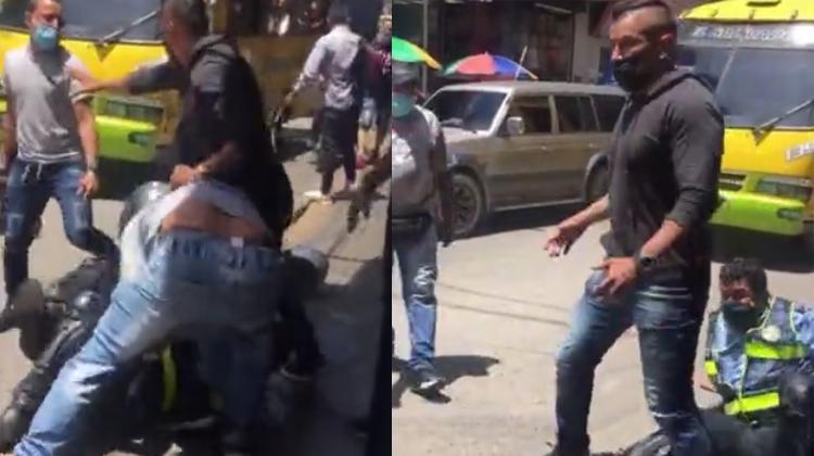 Infractores 'cascaron' a un agente de Tránsito en el Centro de Bucaramanga   EL FRENTE