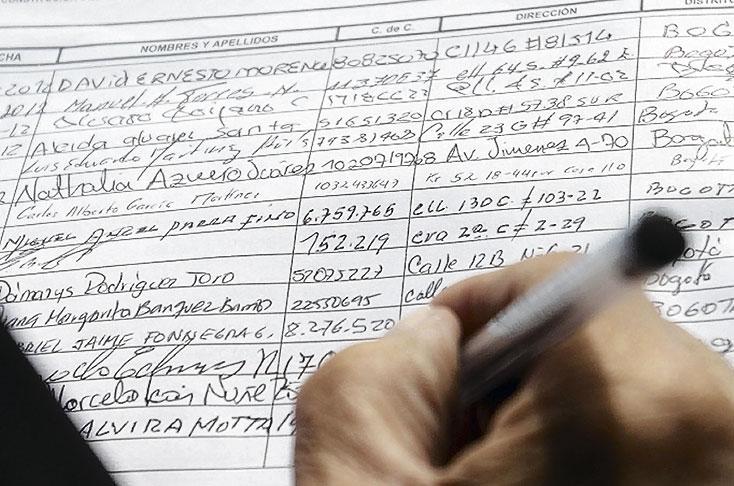 Para la Presidencia, mínimo son 580 mil firmas de respaldo   EL FRENTE