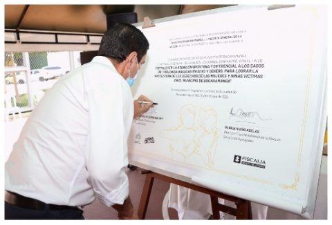 Alcalde Cárdenas firma convenio para disminuir violencia contra mujeres  | Metro | EL FRENTE
