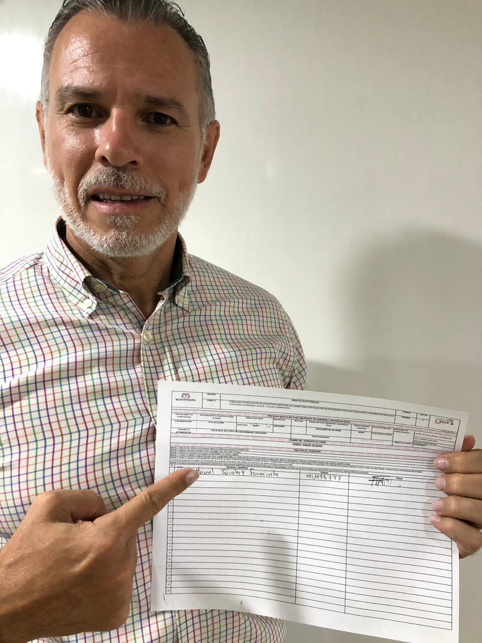 Arrancó la firmatón para  respaldar a Emiro Arias  | EL FRENTE