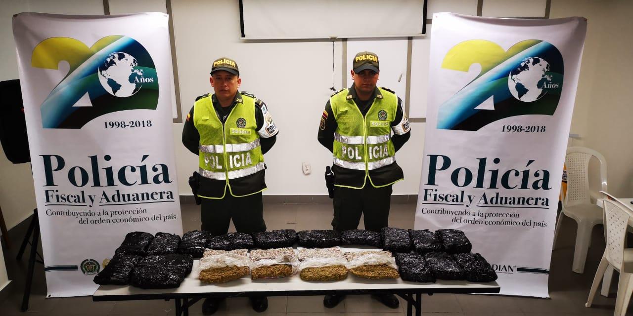 Hallaron 10 kilogramos de marihuana en bodega de envíos en Floridabalanca | EL FRENTE