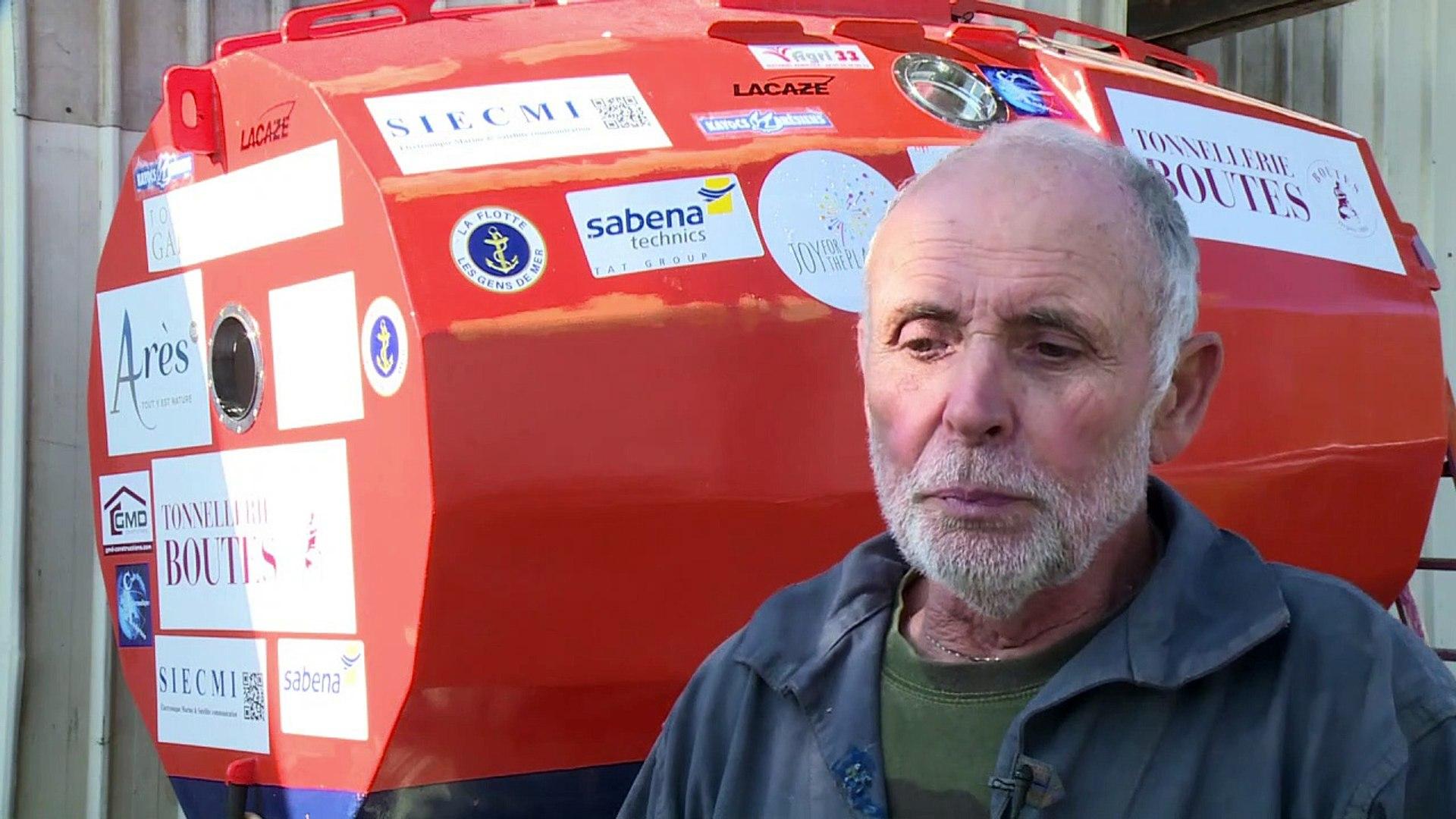 Aventurero francés cruzó el océano Atlántico en un barril  | EL FRENTE