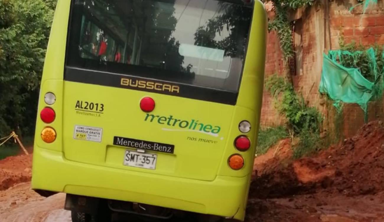 Sin vías decentes se quedó Metrolínea por temporada de lluvias | Piedecuesta | Metro | EL FRENTE