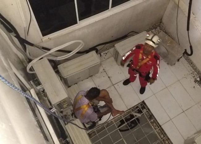 Robo frustrado. Hombre entró a un edificio a robar y se cayó al vacío | Local | Justicia | EL FRENTE