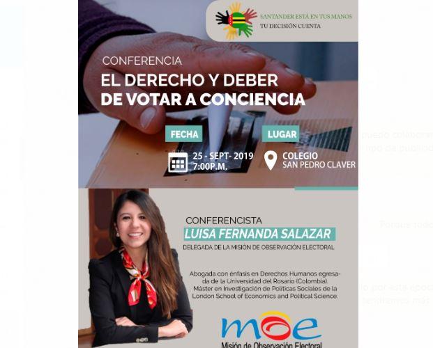 """Conferencia: """"EL DERECHO Y DEBER DE VOTAR A CONCIENCIA""""   Especiales   Variedades   EL FRENTE"""